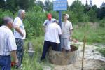 Установка стелы у истока реки Алатырь