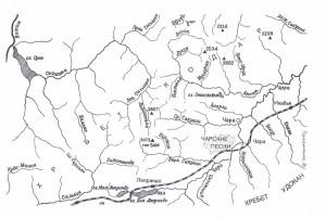 Карта-схема Чара - пик БАМ