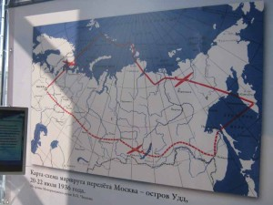 46. Схема перелета Москва-о. Удд