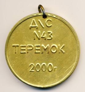 Саров 26-медаль наст-ДС №43 Теремок 2000