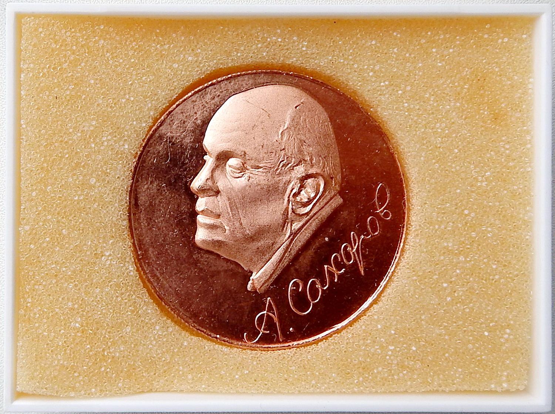 ВМ1 2001 Сахаров ВНИИЭФ бронза светлая в футляре
