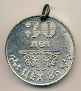 ВНИИЭФ 18-медаль наст-30 лет 86