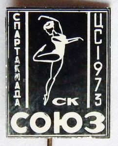 А3 1973 СК СОЮЗ 12х15мм стекло на лат игла-Добровольский