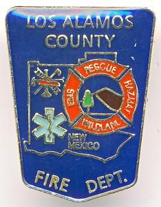А6 Los Alamos Fire Dept 18х23 жм цанга