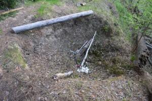 34) Вид сверху на яму