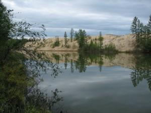 42. Чарские Пески. Озеро Аленушка
