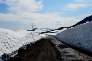 44. Снежная дорога на ГЭС( вулкан Горелый)