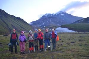 9. Перед восхождением на вулкан Безымянный
