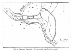 1-План городища Грибов 2002
